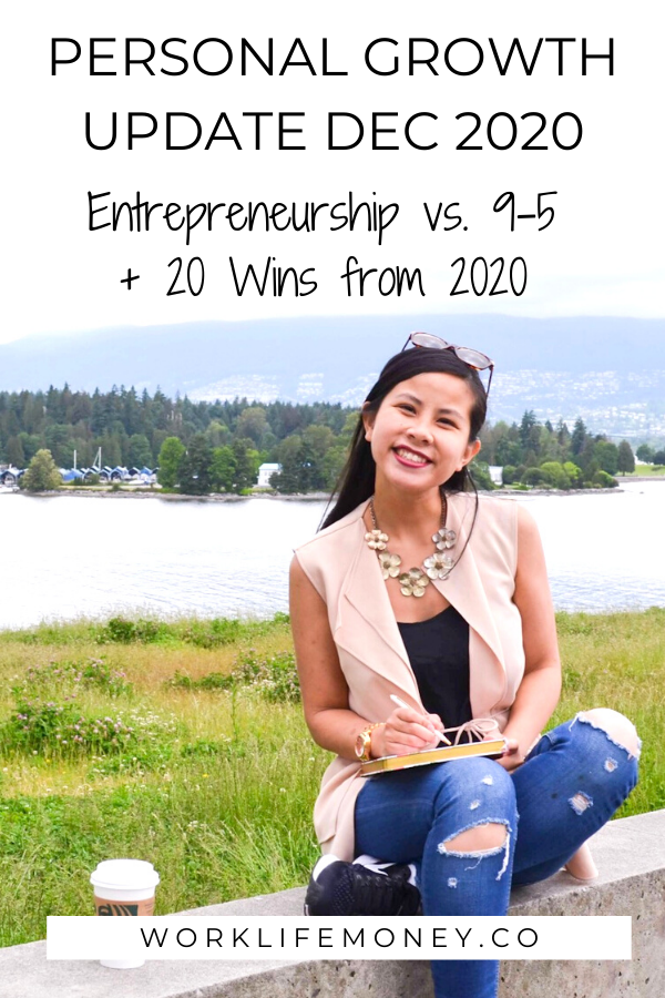 Personal Growth Update December 2020: Entrepreneurship vs. 9-5 and 20 Wins From 2020